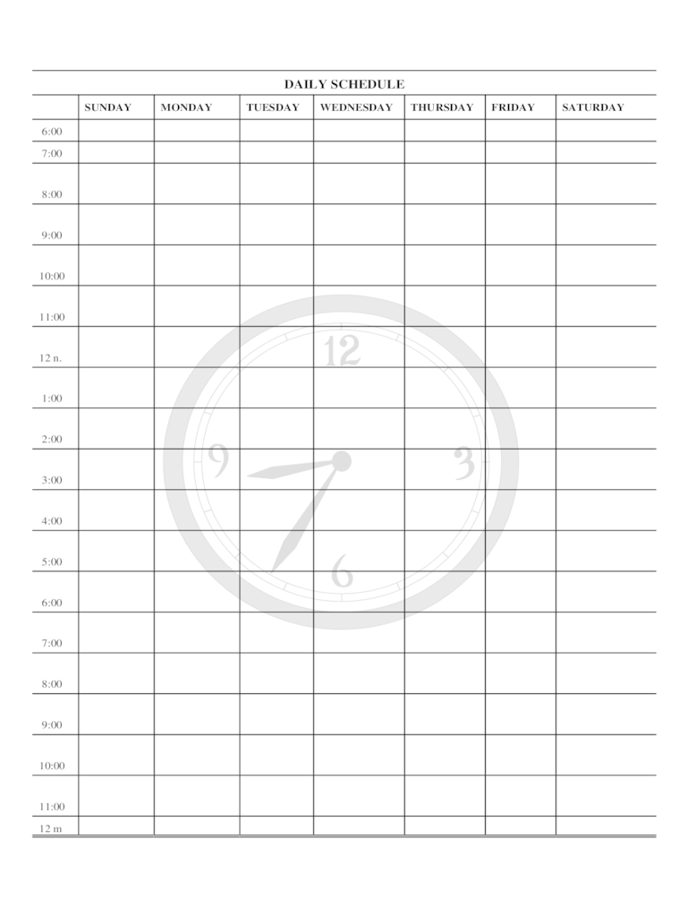 Daily Planner Template 2 Free Templates In PDF Word