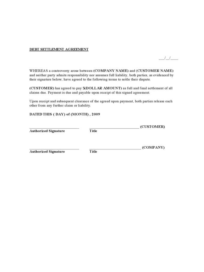 Full And Final Settlement Letter Template South Africa Letternew