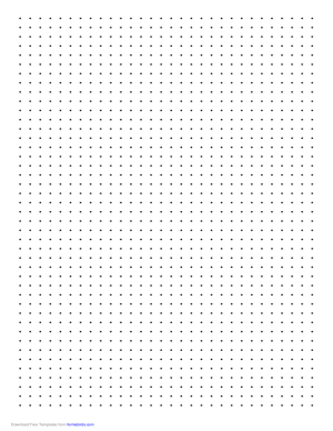 Dot Paper with Four Dots per Inch on A4Sized Paper Free