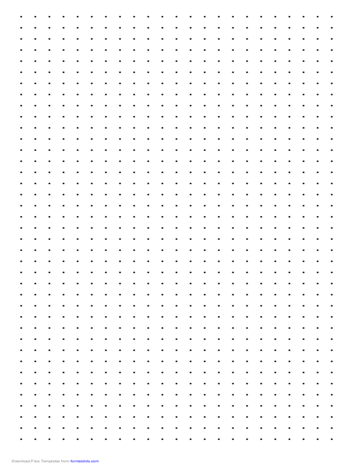 Dot Paper with Three Dots per Inch on LegalSized Paper Free Download