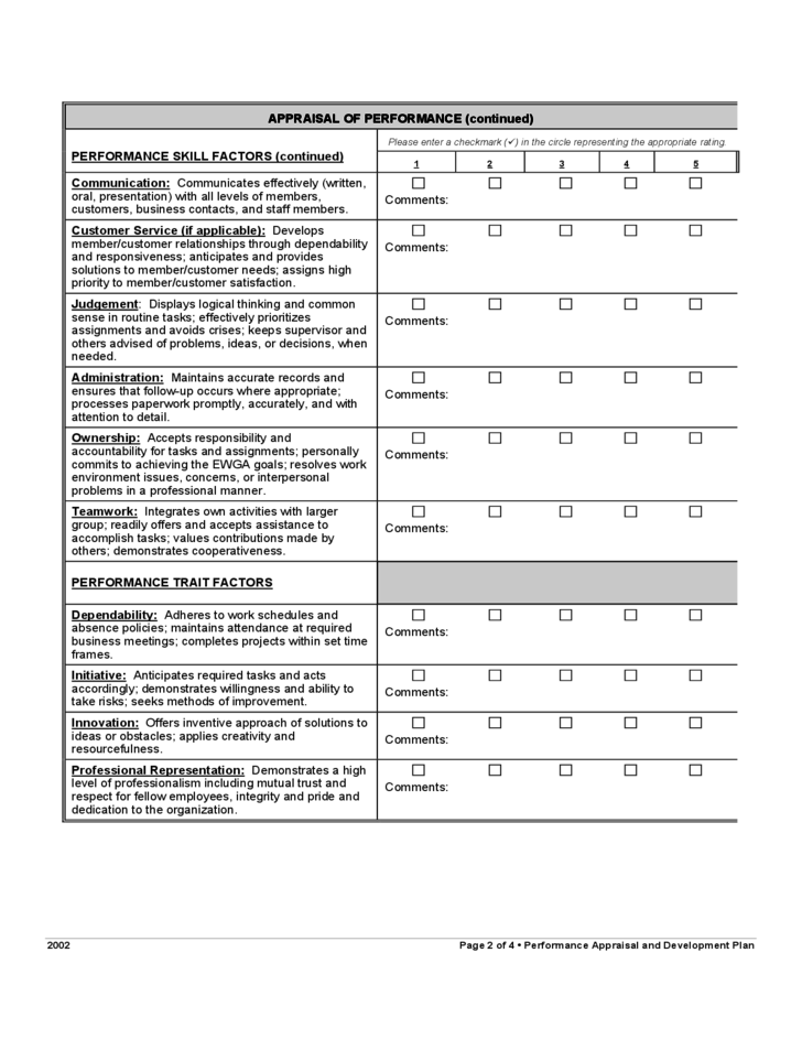 free employee evaluation form template - April.onthemarch.co