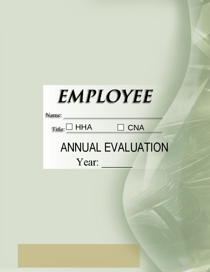 Employee Self Evaluation Form Sample Free Download