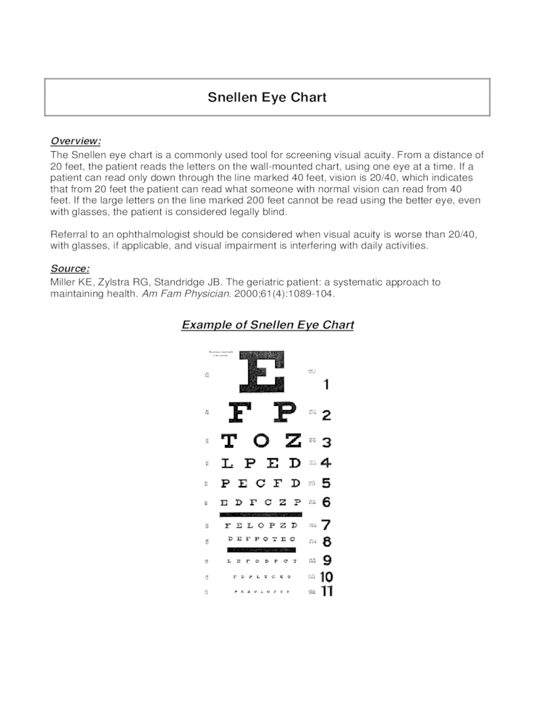 Eye Chart - 6 Free Templates in PDF Word Excel Download