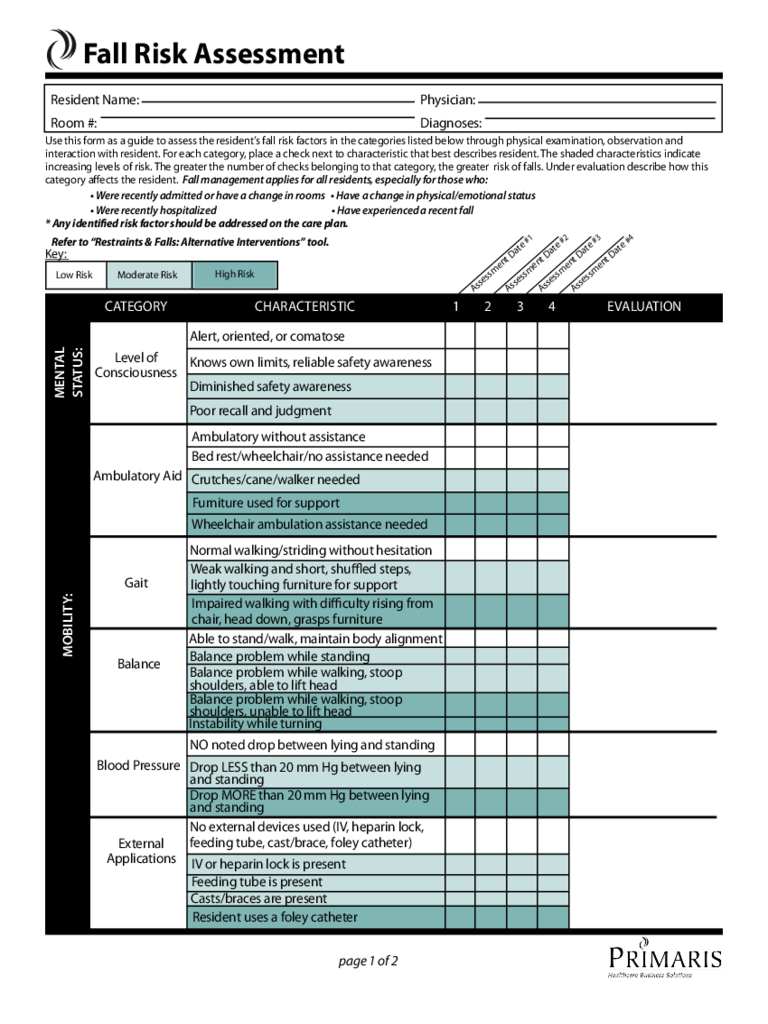 Risk Assessment Form 21 Free Templates In PDF Word