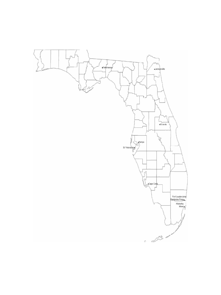 Map Of Florida With Cities.Map Florida Word Document