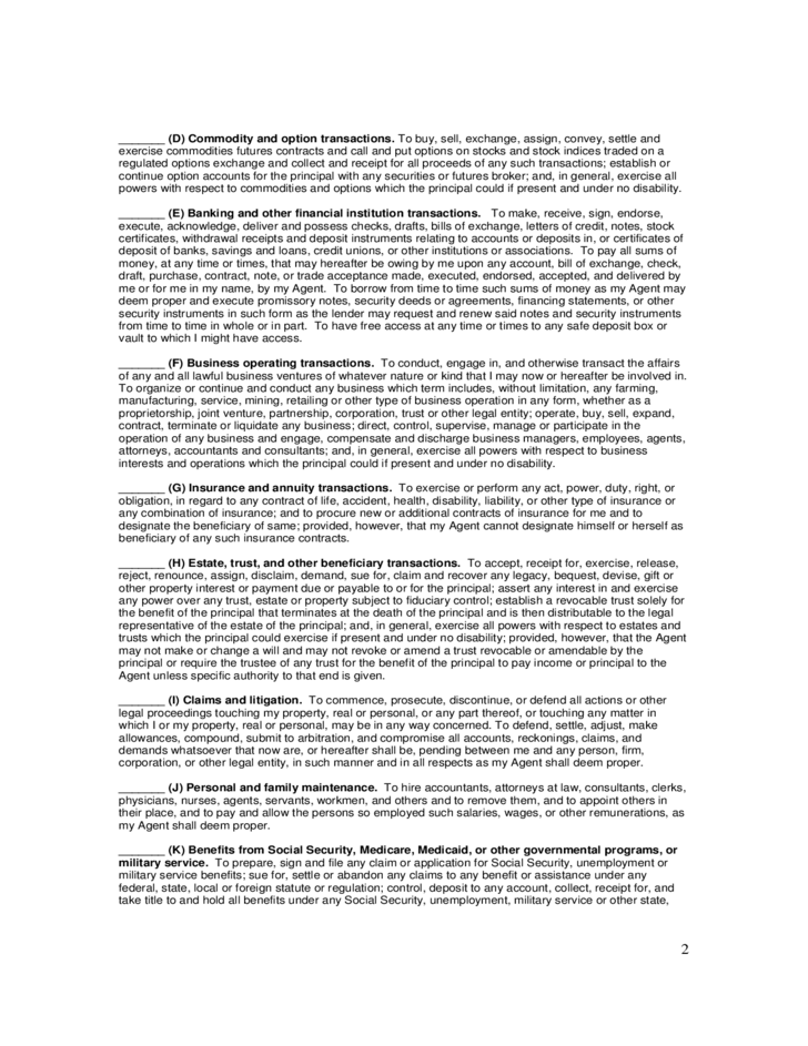 Power Pdf Durable Attorney Maryland Form