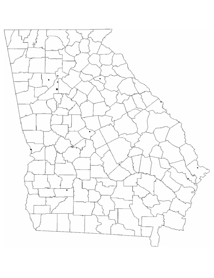 Blank Georgia City Map Free Download