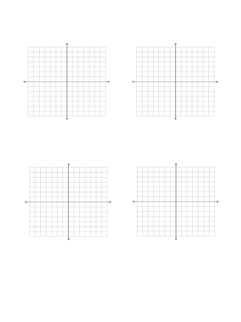 20 Awesome 4 Quadrant Graph Paper