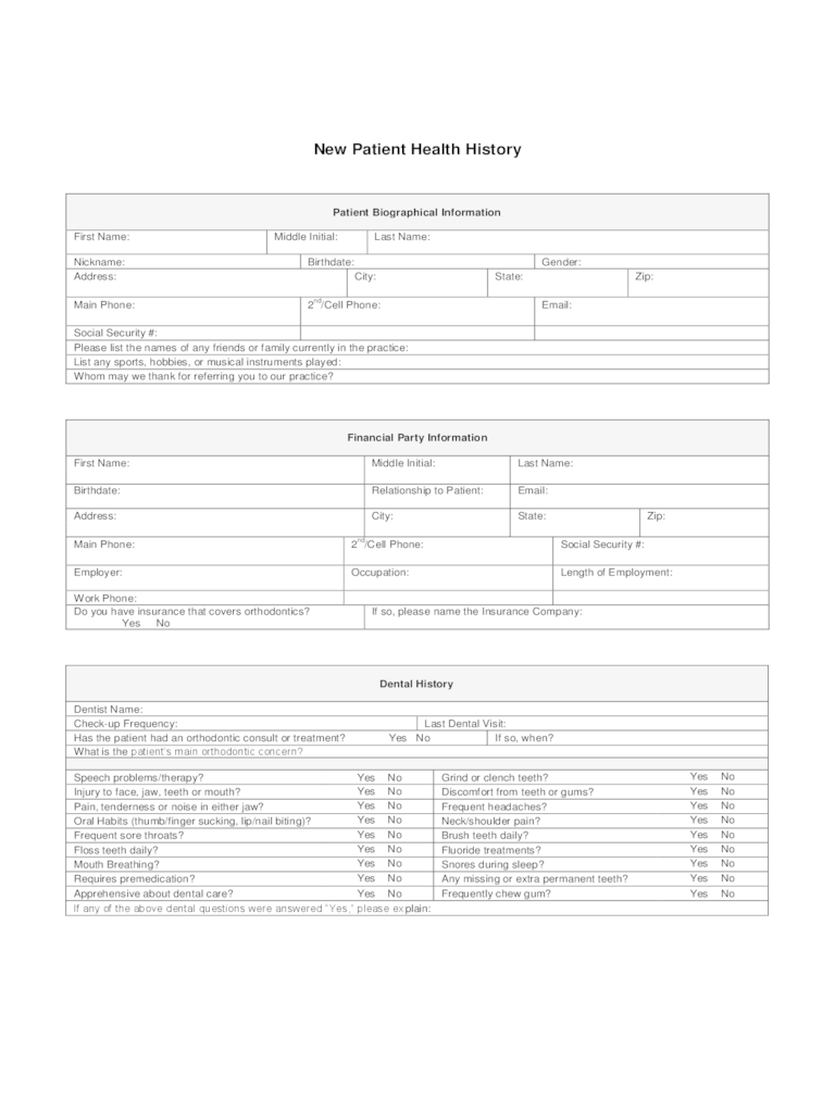 Physical Health Form  47 Free Templates in PDF Word