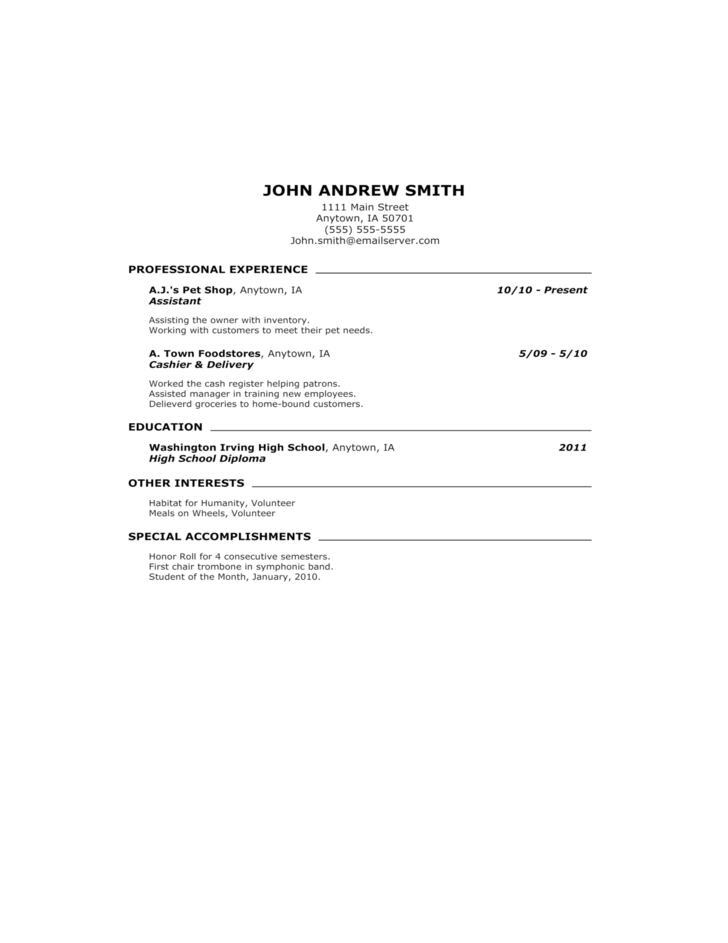 resume and cover letter free template