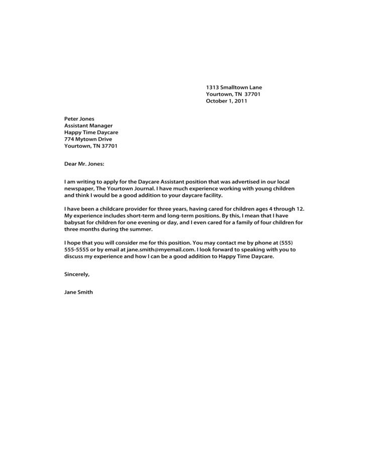 free sample cover letter for resumes