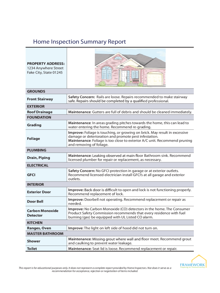 home inspection resume sample