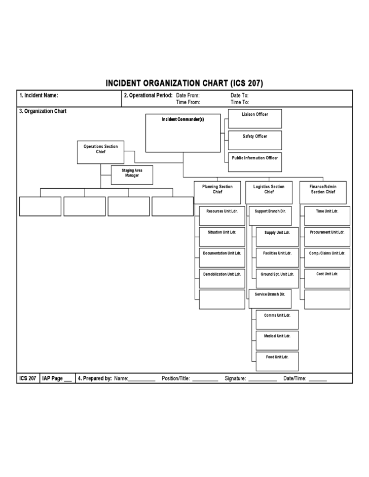 Sample ICS Organizational Chart Free Download