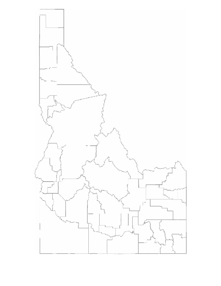 Blank Idaho County Map Free Download