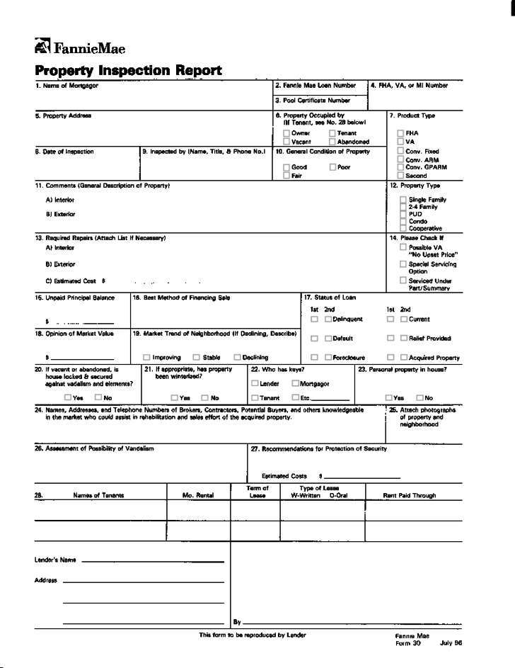inspection letter template