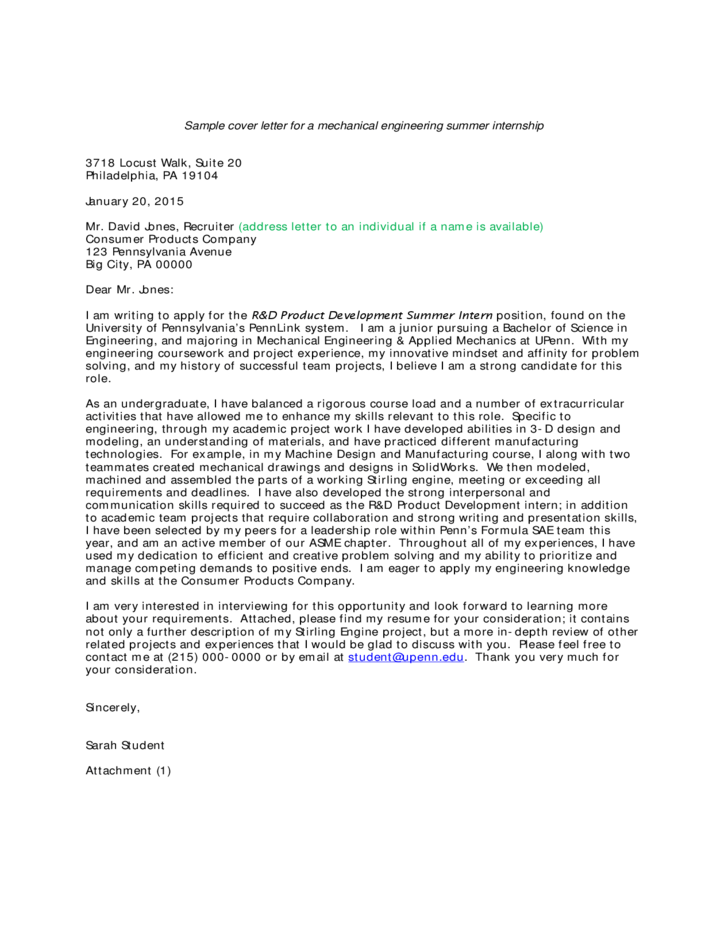 Statement of purpose for graduate school mechanical for Cover letter for summer internship in computer science