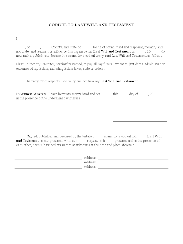 Will And Trust Forms 44 Free Templates In PDF Word