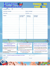 Lottery Syndicate Agreement Form - 6 Free Templates in PDF ...