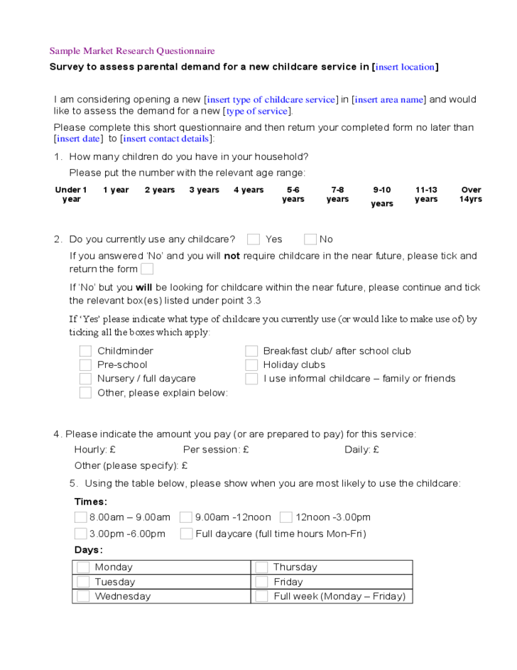 marketing checklist template