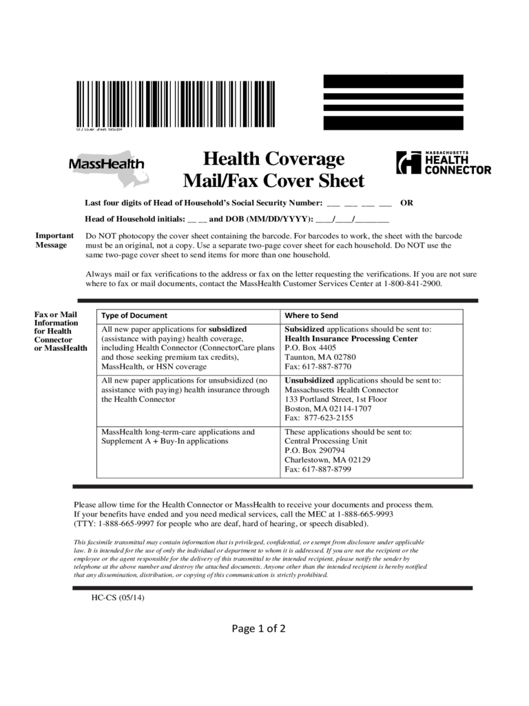 Masshealth Fax Cover Sheet  3 Free Templates in PDF Word Excel Download