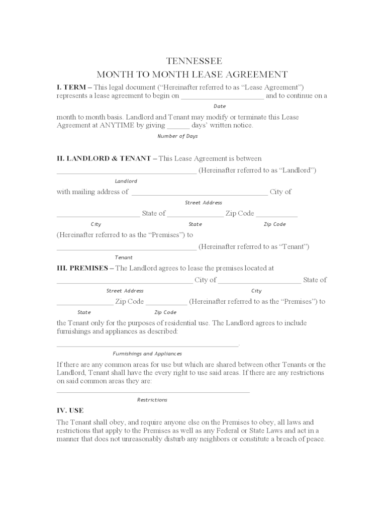 Lease Agreement Form Lease Agreement Form Lease Agreement