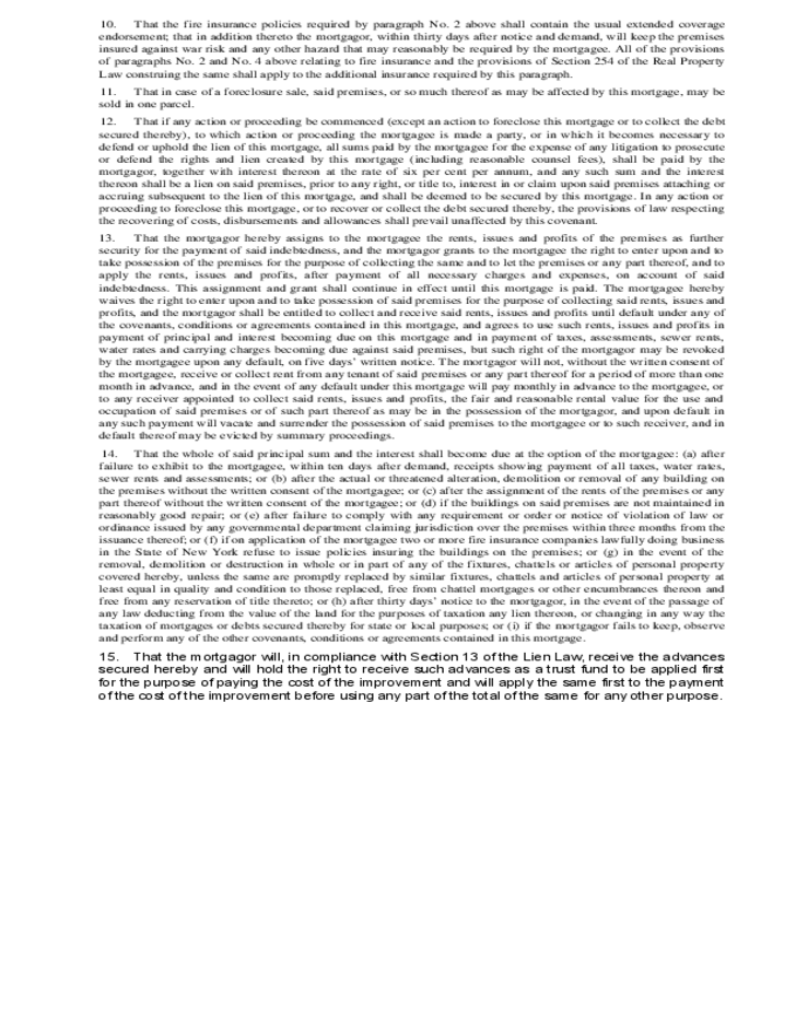 First Mortgage (Individual or Corporation) Free Download