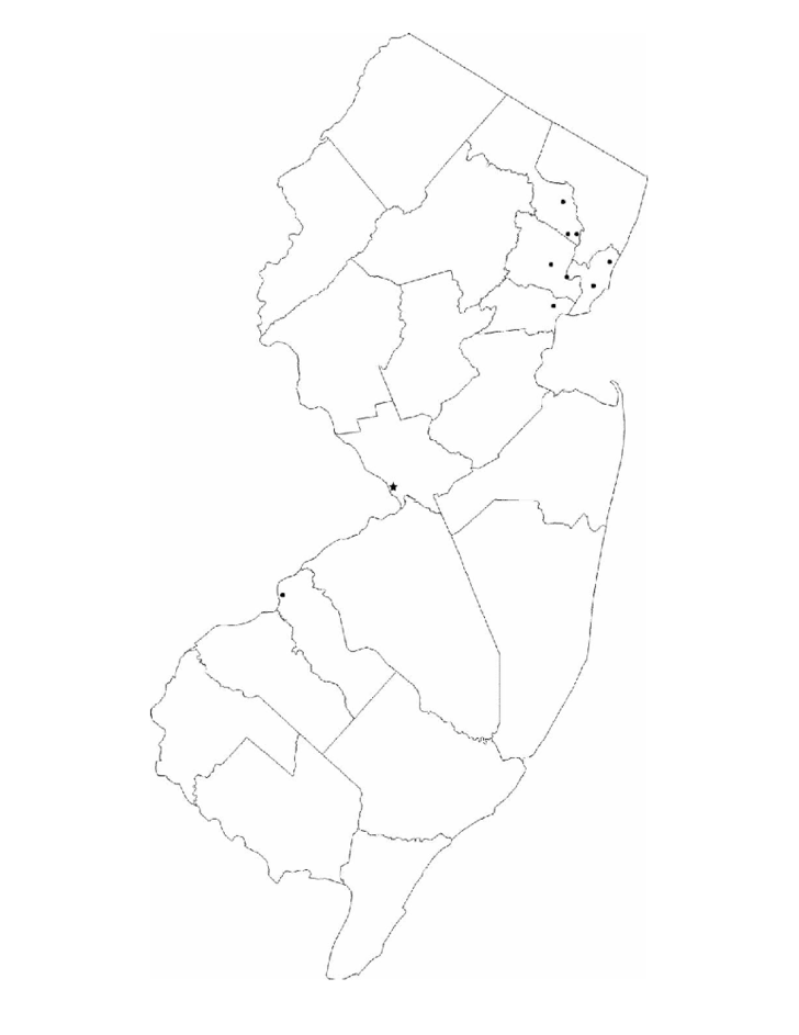 Blank New Jersey City Map Free Download