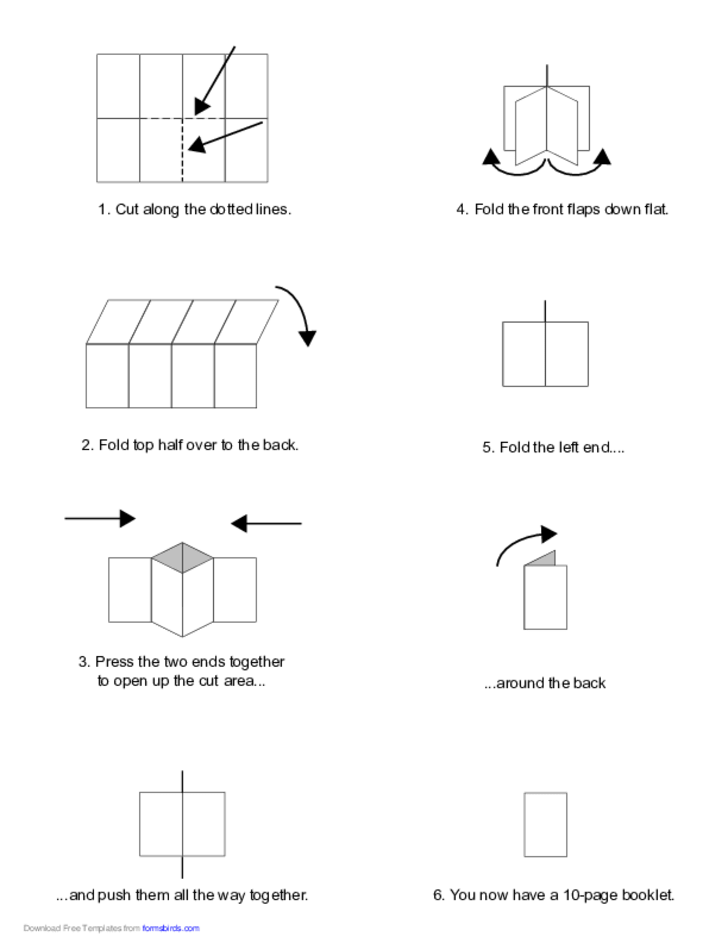 Foldable 10-Page Note Paper Free Download