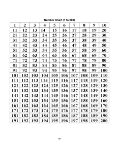 to number chart also free download rh formsbirds