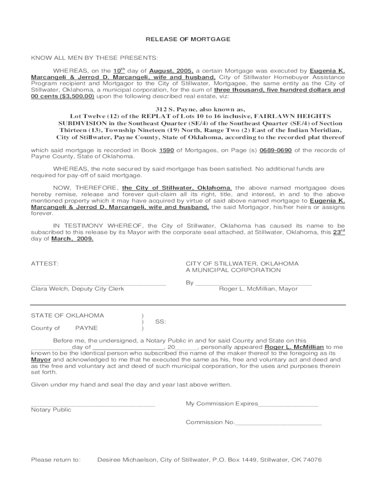 Satisfaction of Mortgage Form  13 Free Templates in PDF Word Excel Download