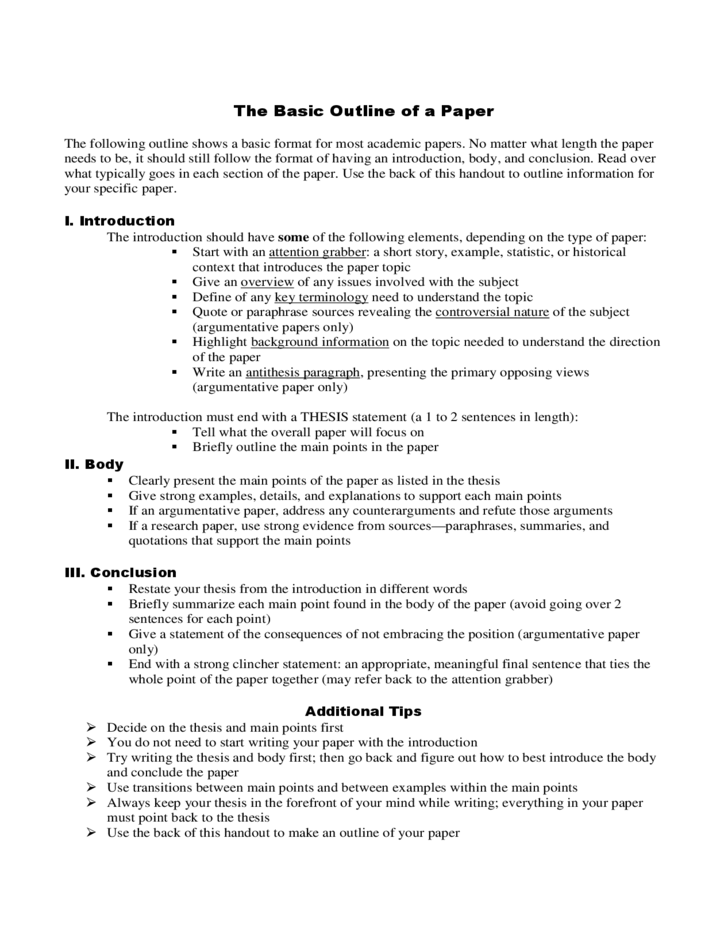Geography Research Paper Outline College Paper Academic Writing