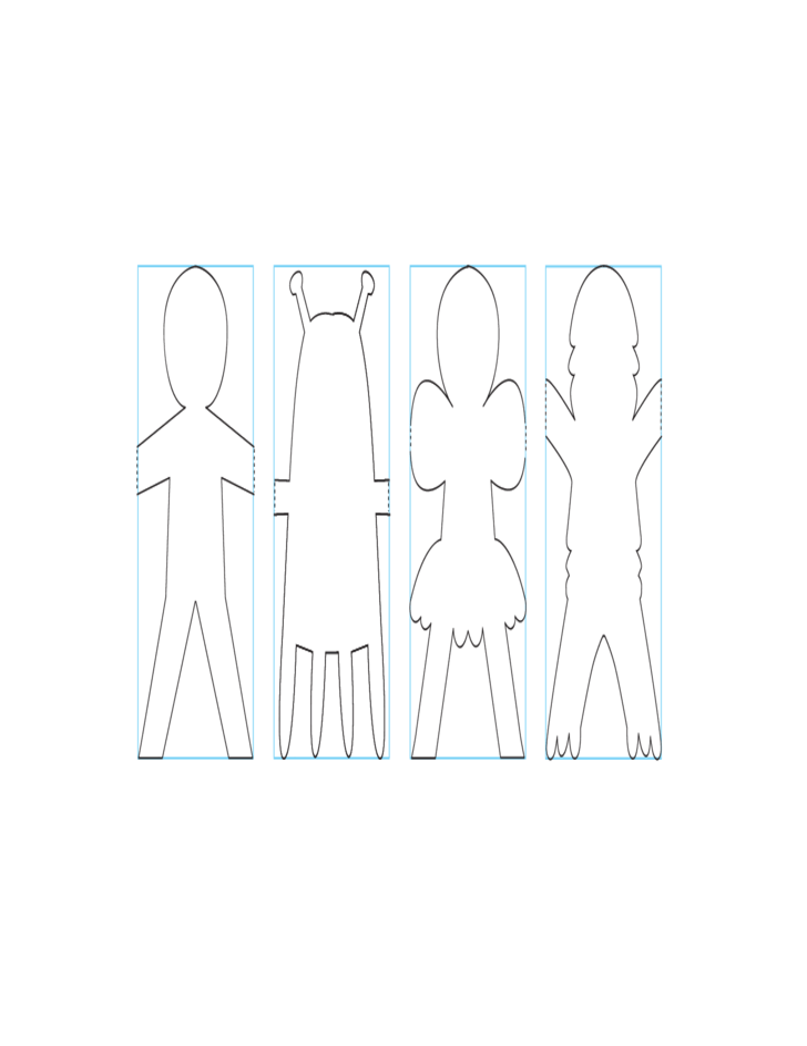 Sample of Paper Doll Template Free Download