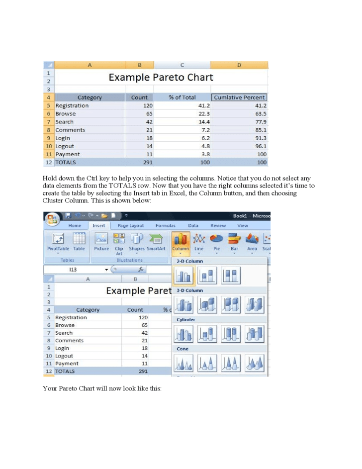 Pareto chart template excel 2010 basic pareto chart for Pareto chart template excel 2010
