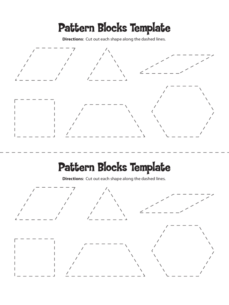 Pattern Block Templates  5 Free Templates in PDF Word Excel Download