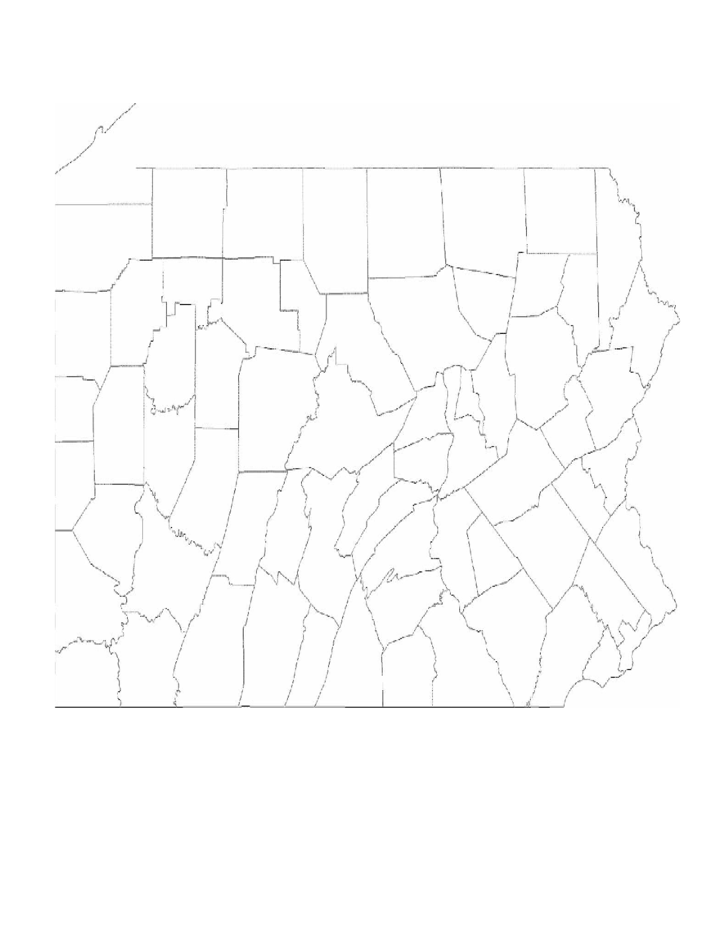 Pennsylvania County Map with County Names Free Download
