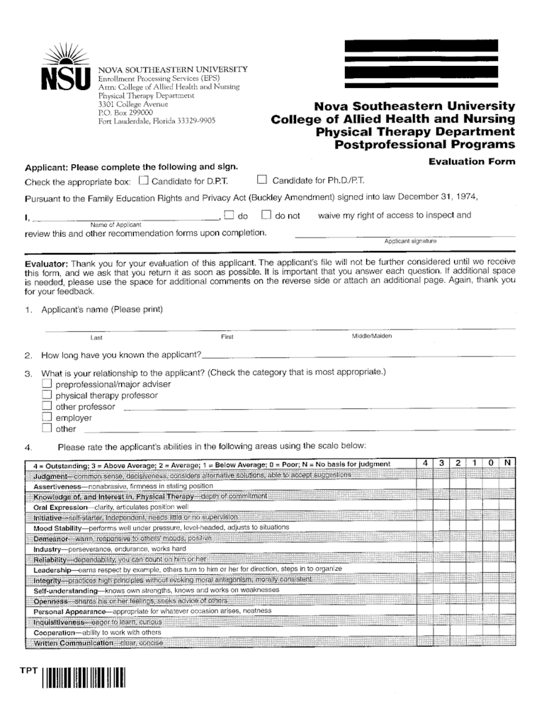 Physical Therapy Evaluation Form  2 Free Templates in PDF Word Excel Download