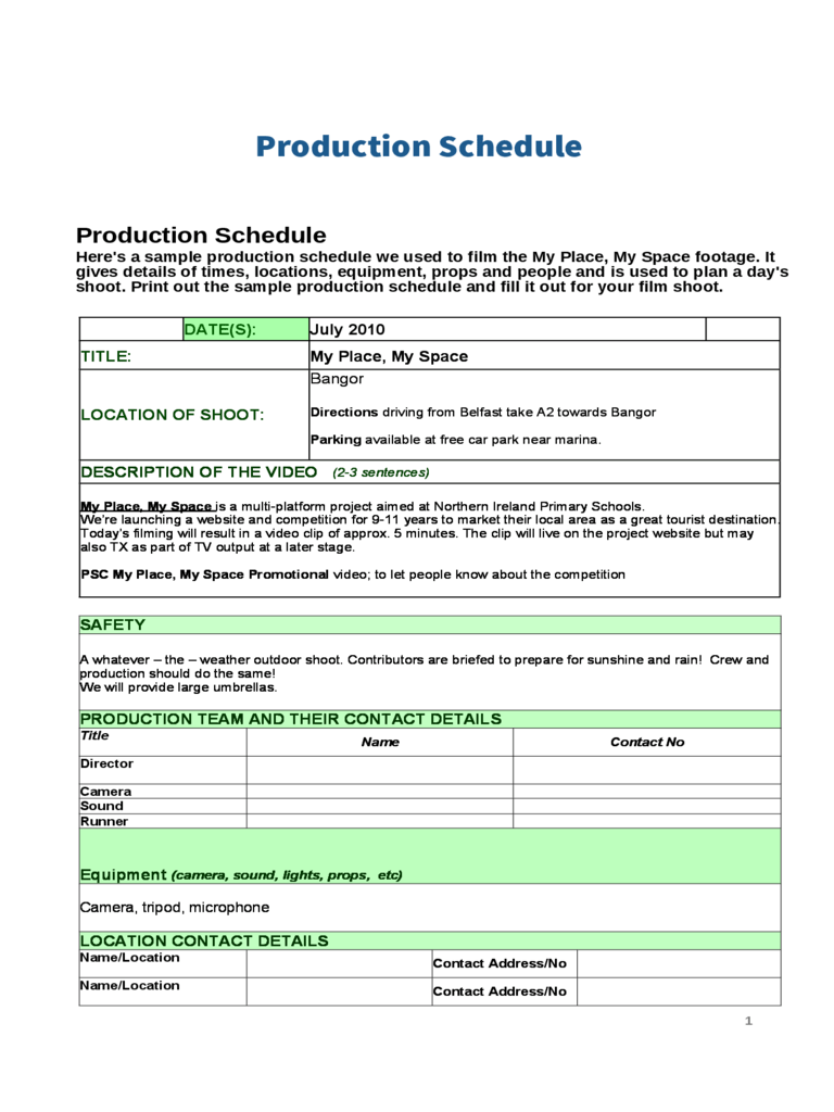 Some people want a spreadsheet tool so that it will solve their. Production Schedule Template 6 Free Templates In Pdf Word Excel Download