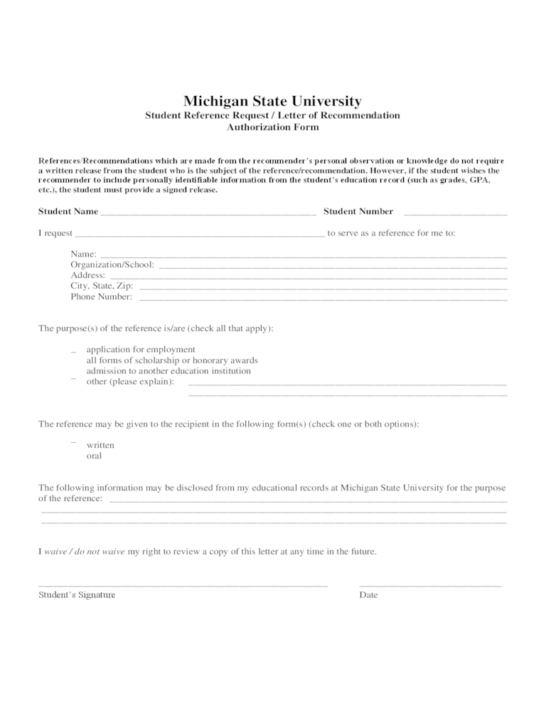 Reference Release Form  2 Free Templates in PDF Word