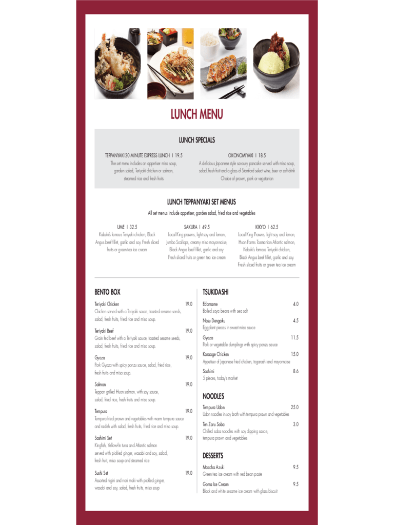 Restaurant Menu Template  5 Free Templates in PDF Word Excel Download