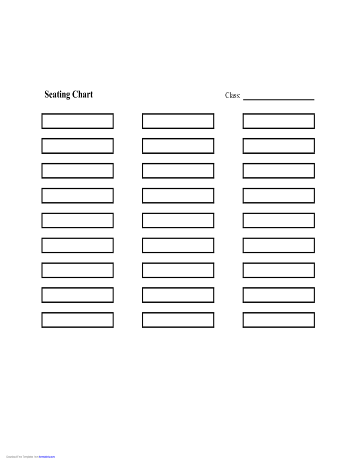 Seating Chart (Rows) Free Download