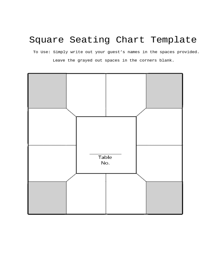 Square Seating Chart Template Free Download