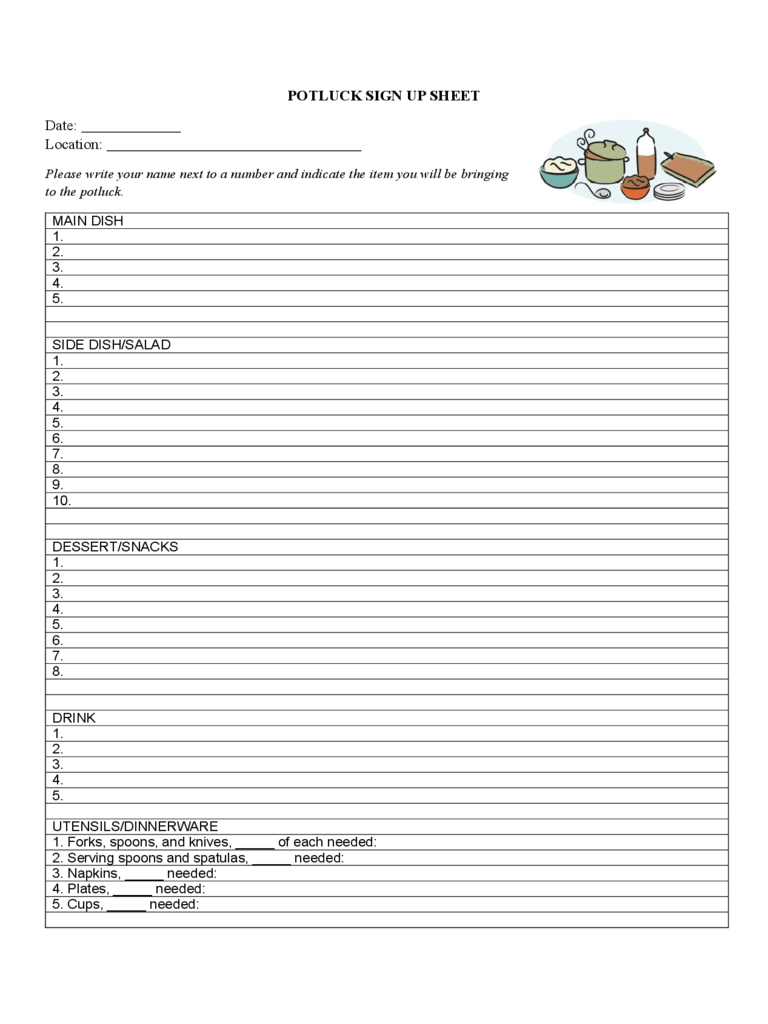 Sign Up Sheet 4 Free Templates In PDF Word Excel Download