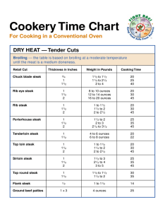 Steak cook time chart free download also cooking recipes templates in pdf word excel rh formsbirds