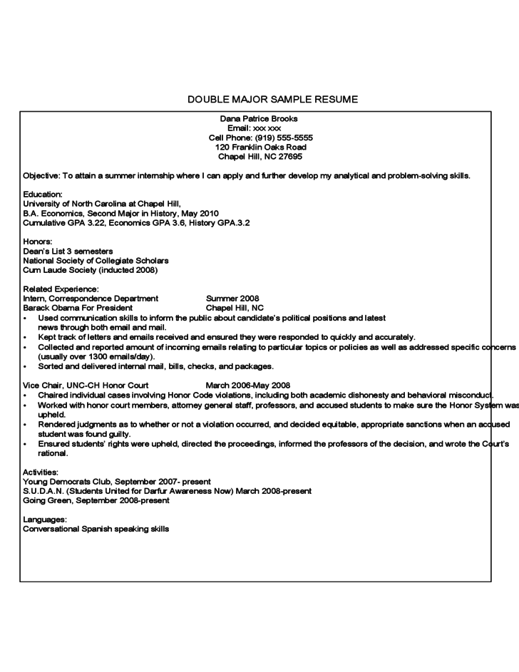 ar resume template