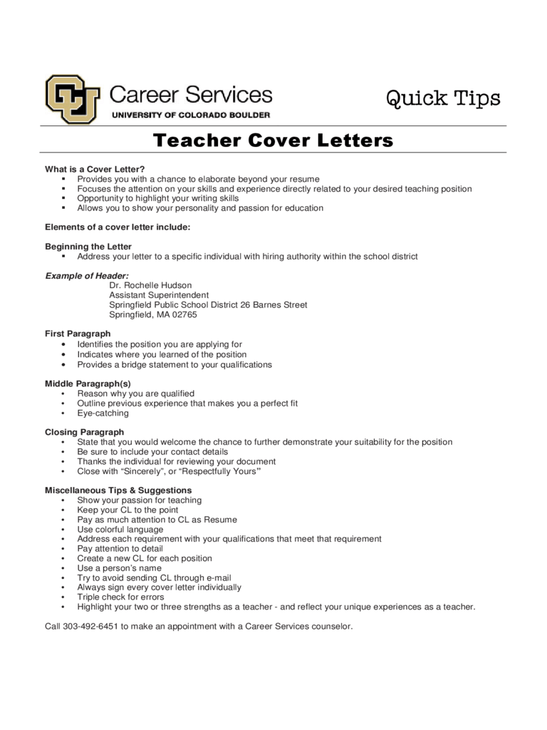 resume cover page for teacher