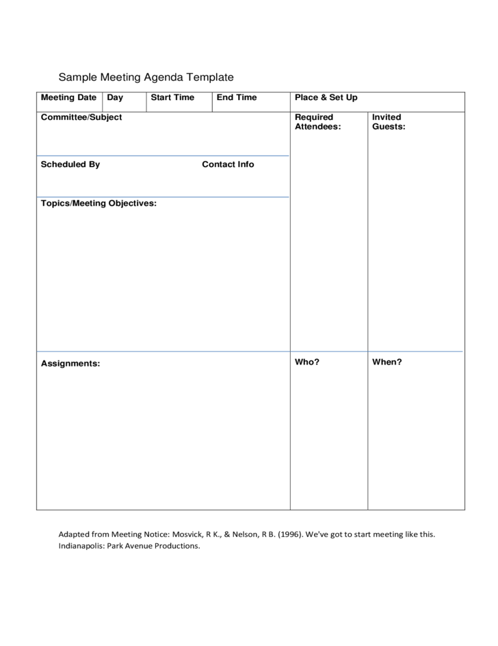 All states require corporations to take and distribute minutes of meetings, and all states requir. Sample Template For Team Meeting Agenda Free Download