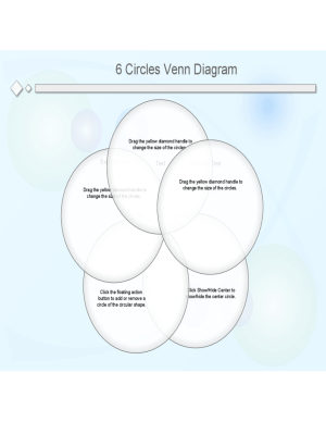 6 Circles Venn Diagram Template Free Download