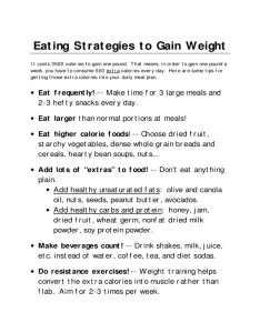 Weight gain diet template also chart free templates in pdf word excel download rh formsbirds