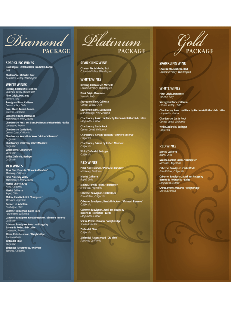 Wine Menu Template  2 Free Templates in PDF Word Excel