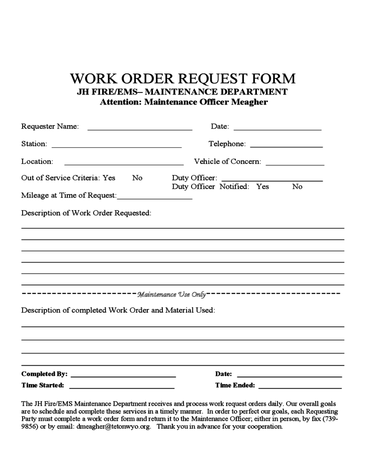 Use this comprehensive template to request graphic design services for a project. Work Order Request Form Free Download